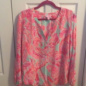 Lilly Pulitzer Lovebirds Stacey Top